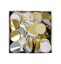 Confettis étoiles gris argent Décoration de fête