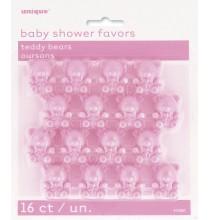 16 Mini Oursons Rose pastel Décoratifs