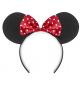 Serre-Tête Minnie Mouse Rouge et Noir