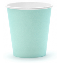 Gobelets en Papier Vert Pastel Mint Menthe