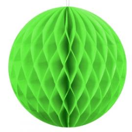 Boule Alvéolée Papier Vert 20cm à l'unité