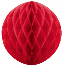 Mini Boule Papier Alvéolé Rouge 10cm à l'unité