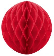 Grande Boule Papier Alvéolé Rouge 30cm à l'unité