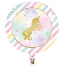 Banderole à fanions Happy Birthday Licorne Dorée - Anniversaire
