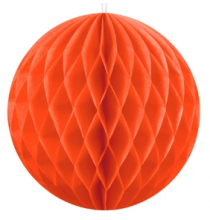 Grande Boule Alvéolée Papier Orange 30cù