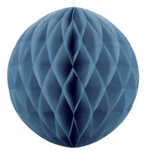 Grande Boule Alvéolée Papier Bleu Pastel 30cm à l'unité