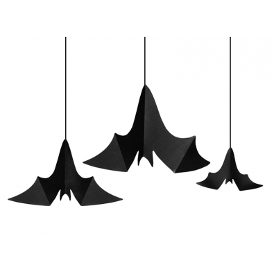 guirlandes suspendre halloween chauve souris d coration. Black Bedroom Furniture Sets. Home Design Ideas