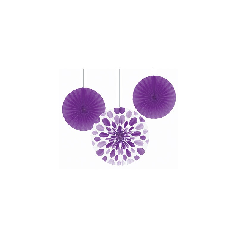 rosace en papier de soie 35 cm violet d coration de f te. Black Bedroom Furniture Sets. Home Design Ideas