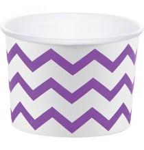 Petits Pots Chevron Violet et Blanc - Table