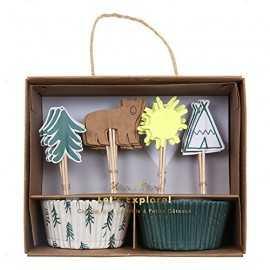 Kit cup cakes Tipis indiens & Flèches - Anniversaire à thème