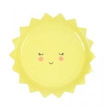 12 Petites Assiettes Forme de Soleil - Anniversaire à thème