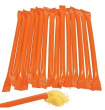 20 Pailles Bonbon Candy Bar Orange