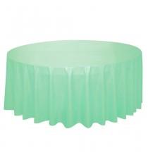 Nappe Plastique Ronde - Mint Vert Pastel Menthe en Papier