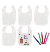 Kit Customisation de Bavoirs Jeu de Baby Shower
