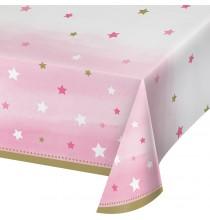 Nappel Plastique Etoiles Rose pastel et doré Little Star rose et doré