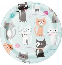 Petites Assiettes - Petits Chats Anniversaire