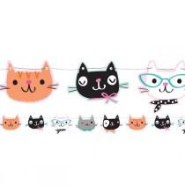 Banderole à fanions - Petits Chats Anniversaire