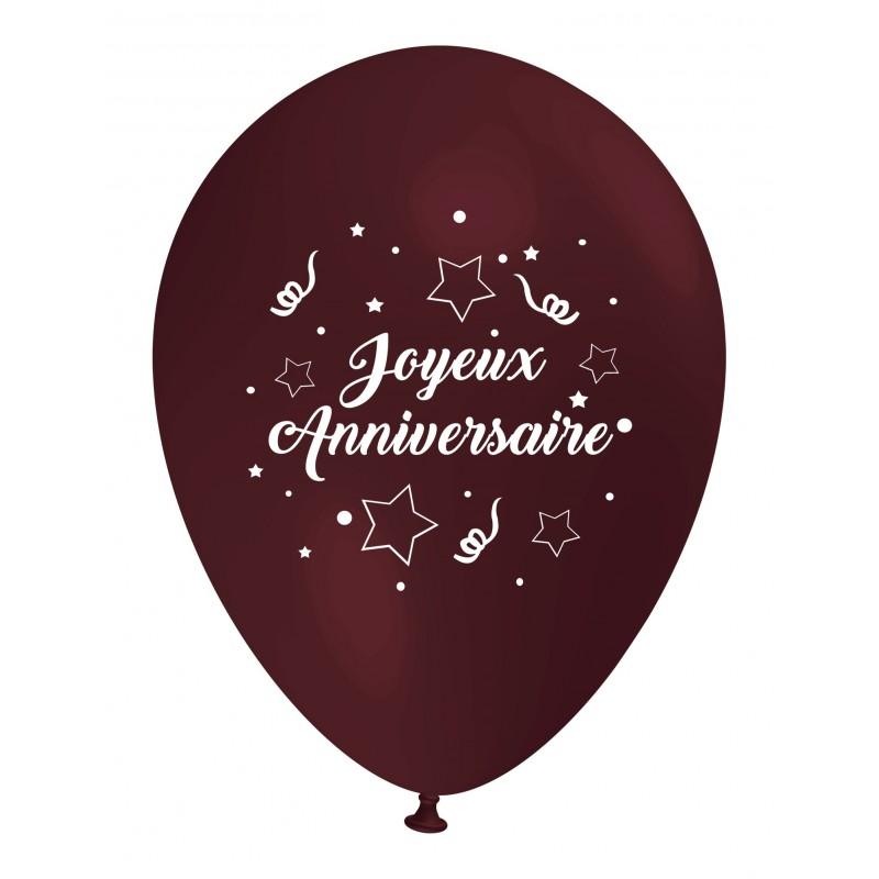 Ballon Joyeux Anniversaire Marron D 233 Coration Go 251 Ter D