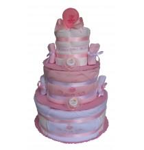 Gâteau de couches Pampers J'aime Maman et Papa mybbshowershop