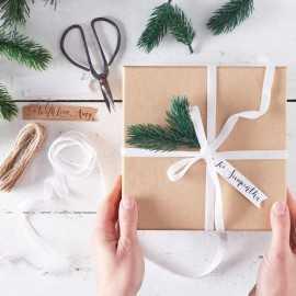 Kit Emballage Cadeaux Sapin Premium - Rétro