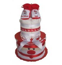 Gâteau de couches Père Noël en pampers