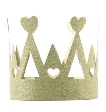 Couronne Glitter Doré Anniversaire prince et princesse