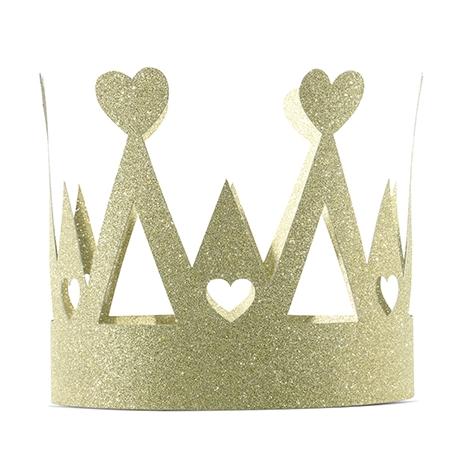 Courronne Glitter Doré Anniversaire prince et princesse