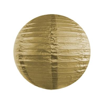 Petite Boule Lanterne de Papier Or Doré Lanterne 20 cm
