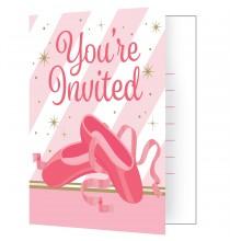 Carte d'invitation Anniversaire Danseuse Etoile Ballerine