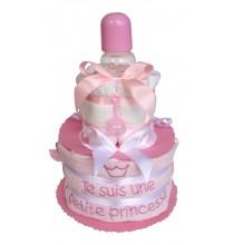 Gâteau de couches Le biberon de la Petite Princesse