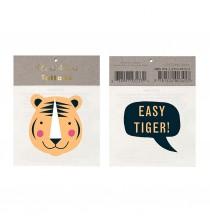 2 Tatouages Tigre Safari & Easy Tiger Anniversaire Meri Meri