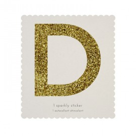 Lettre Glitter D Alphabet Adhésif Glitter Doré