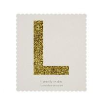 Lettre Glitter L Alphabet Adhésif Glitter Doré
