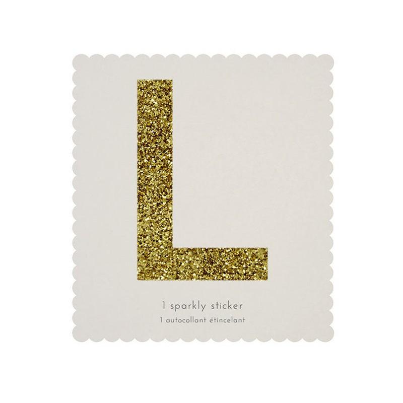 L Lettre Sticker Alphabet Autocollant Meri Meri Or Dor 233