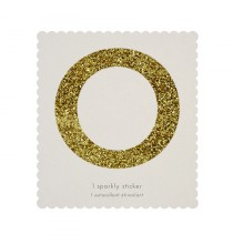 Lettre Glitter O Alphabet Adhésif Glitter Doré