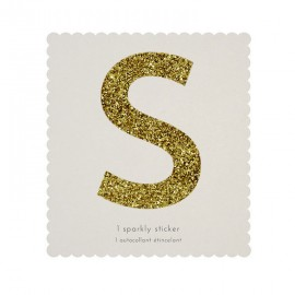 Lettre Glitter S Alphabet Adhésif Glitter Doré