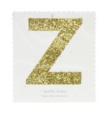 Lettre Glitter Z Alphabet Adhésif Glitter Doré