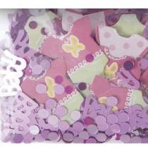 Confettis Baby Shower Rose Body Décorations Bébé Fille