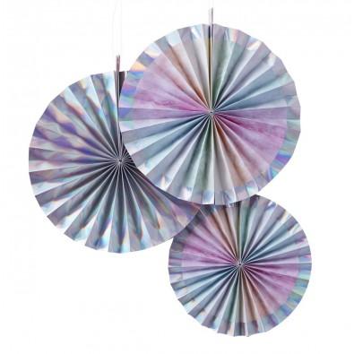 3 RosacesGris Holographiques Effet Ultra Brillant