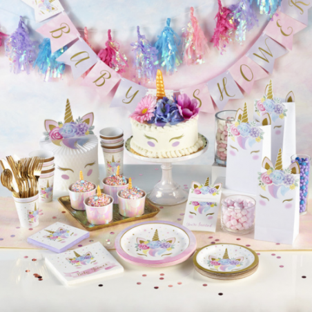 Baby shower licorne pastel
