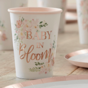 Baby Shower Baby Bloom Rose Gold
