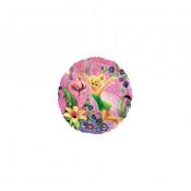 Anniversaire Fée Clochette Disney Rose Fushia Vert et Jaune