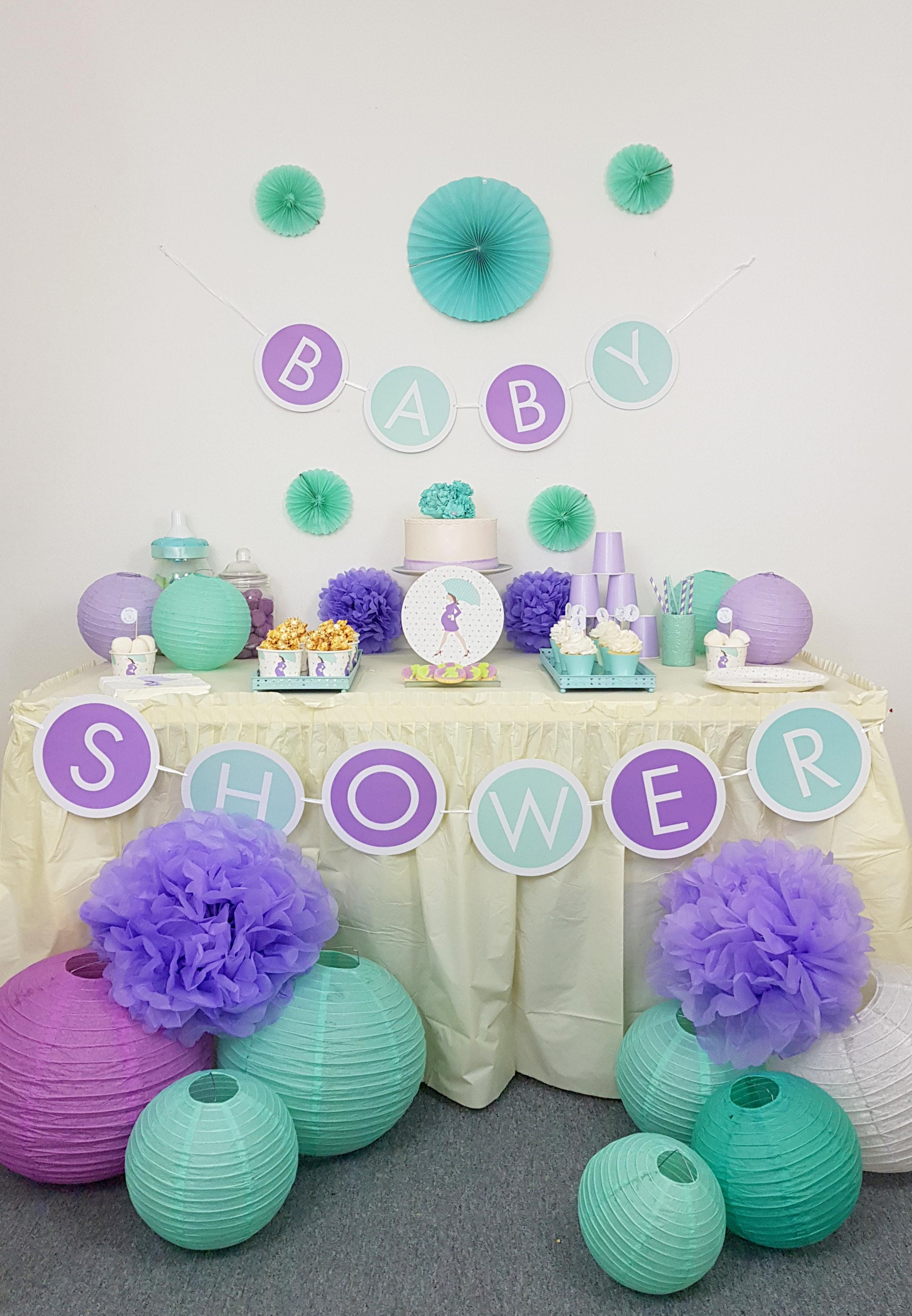 Baby Shower Cadeau Futur Maman baby shower future maman vert mint et parme