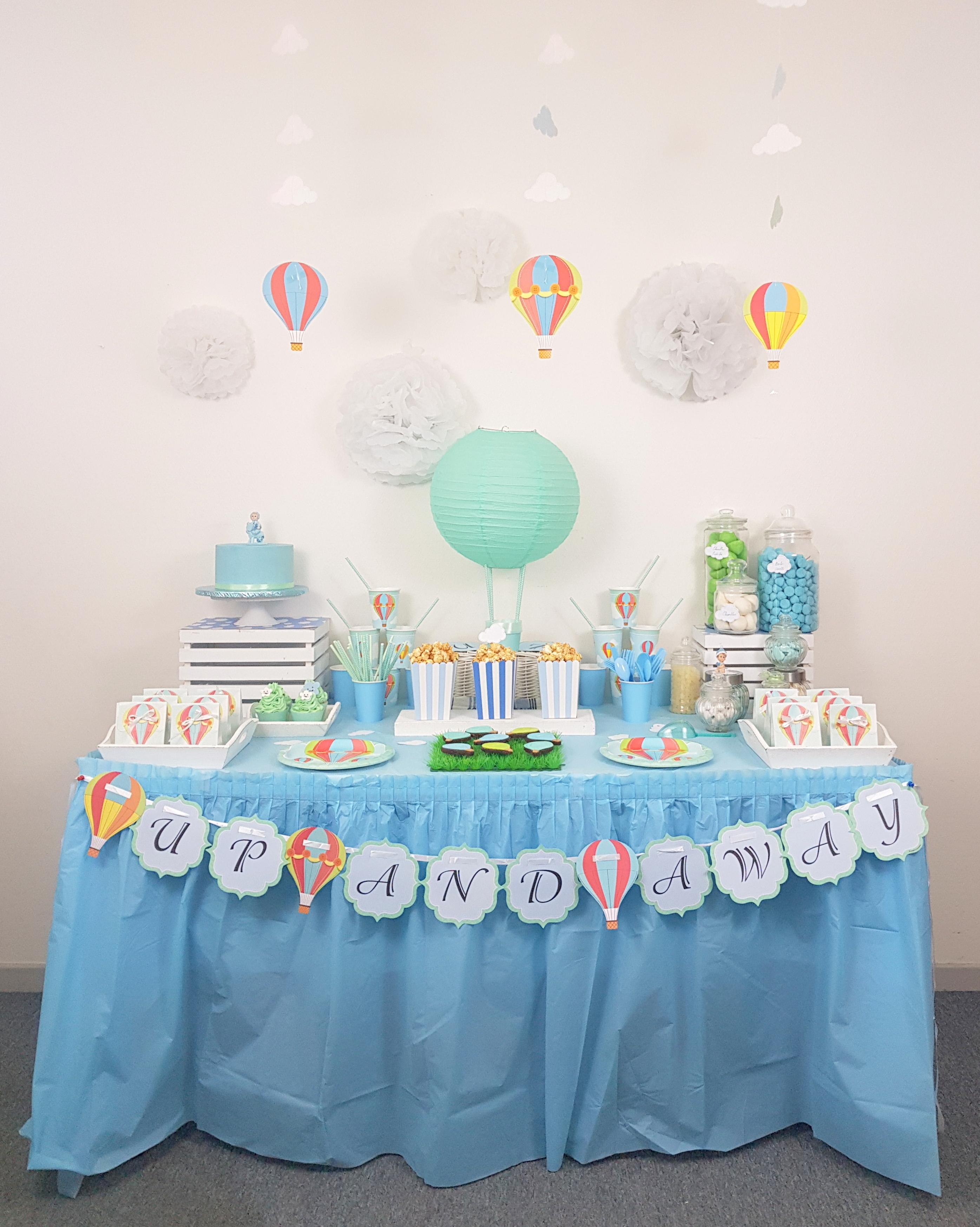 baptême thème montgolfière décoration de fête on