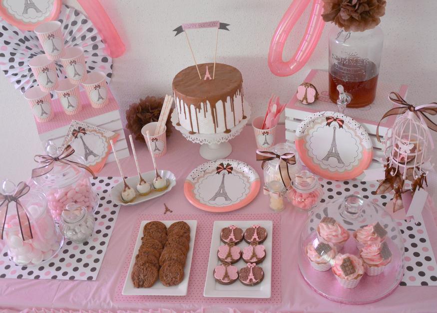 Premier 1st Anniversaire fille Décorations//rose thème Set Kit-Bébé Anniversaire...
