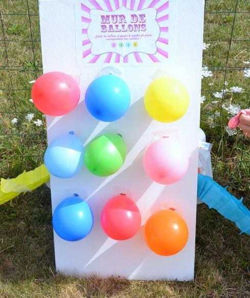 Misez sur une décoration généreuse et colorée. Quelques images des  anniversaires fête foraine organisés par les organisatrices  mybbshowershop.com vous sont