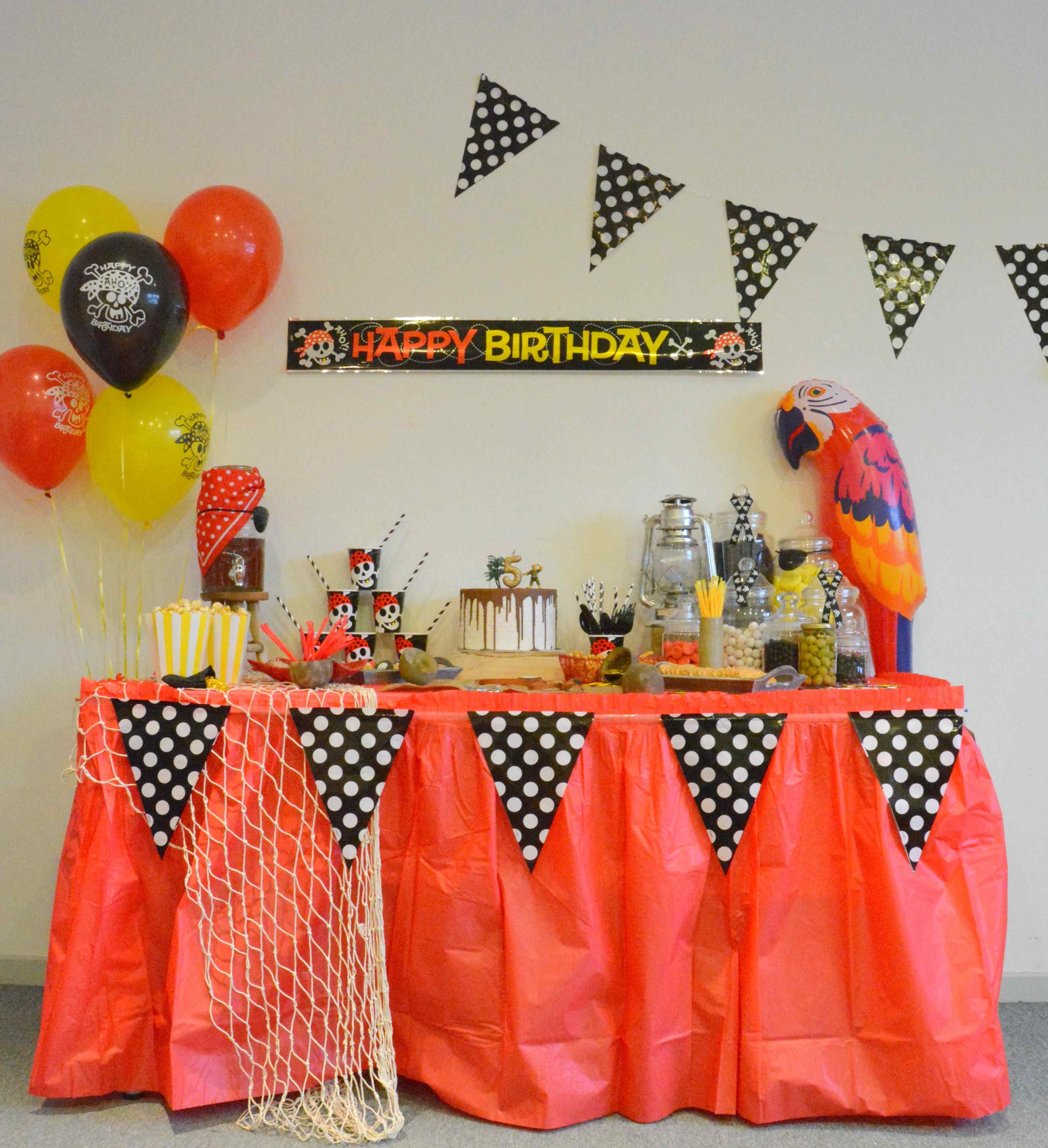 Parti Pirate pour enfants Anniversaire Mini Moulé Gâteau Bougies Navire Crâne Chapeau perroquet