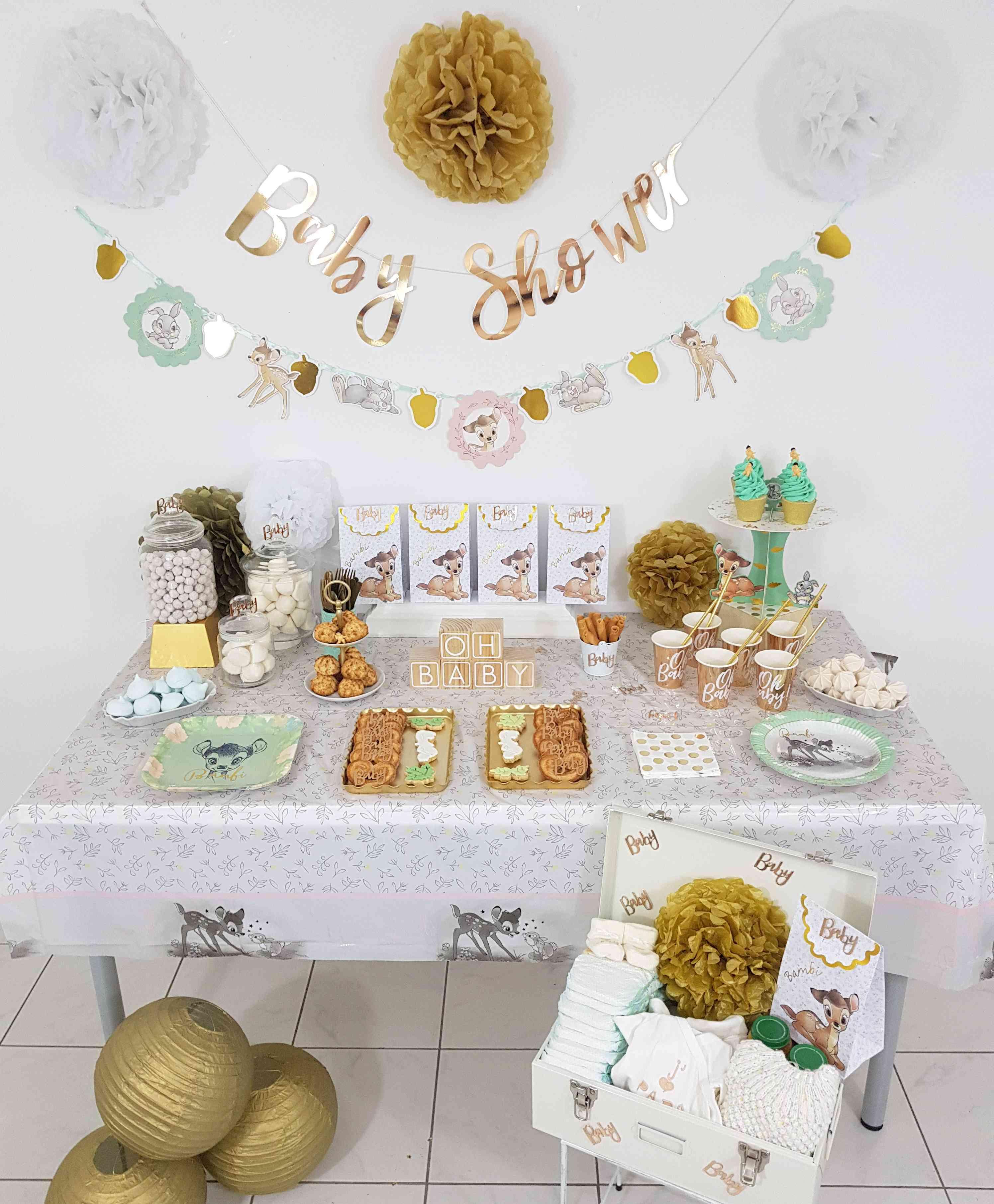 Idée Cadeau Baby Shower baby shower organisation thème bambi disney unisexe