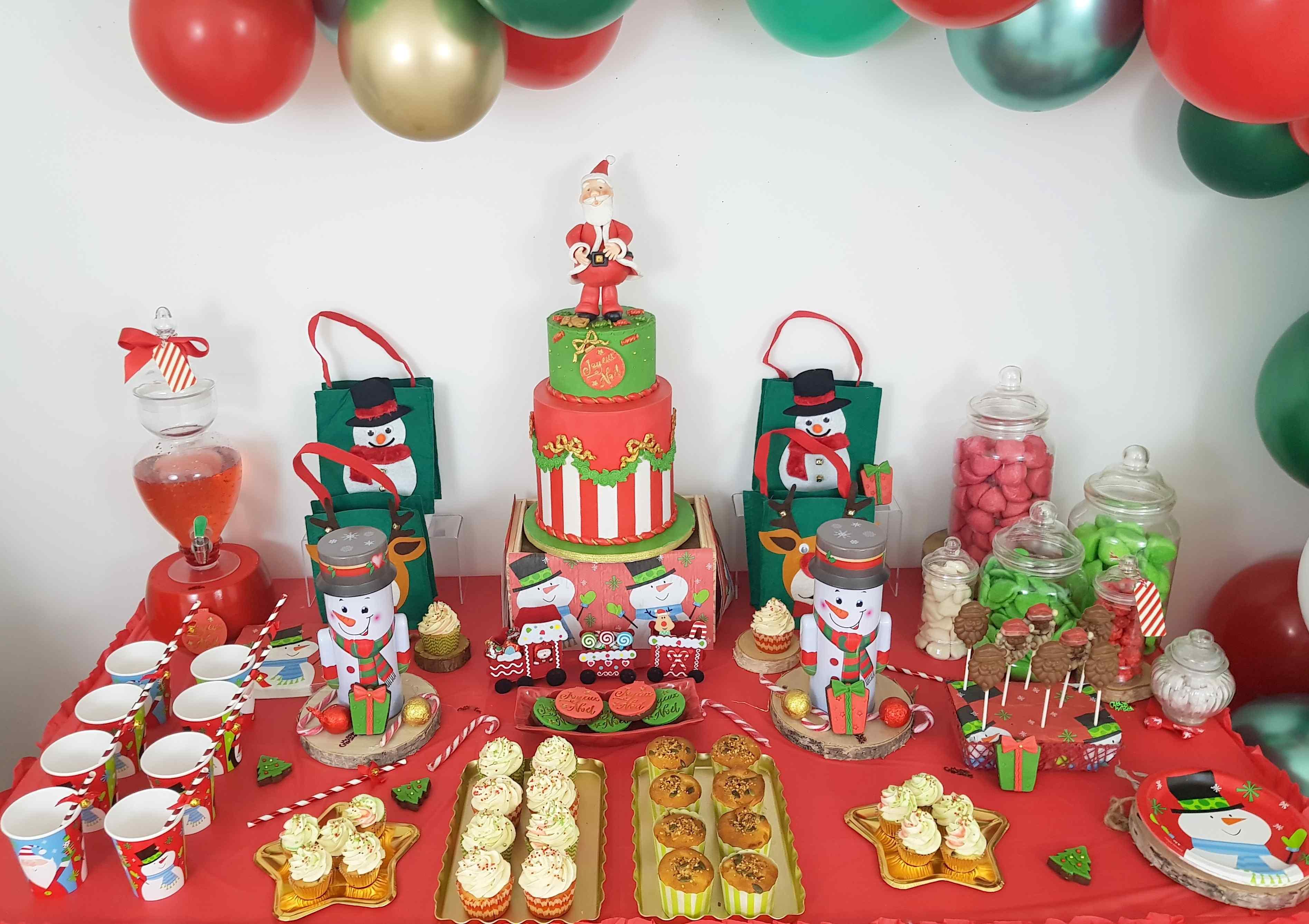 arbre de Noël organisation de fête buffet pour enfants goûter