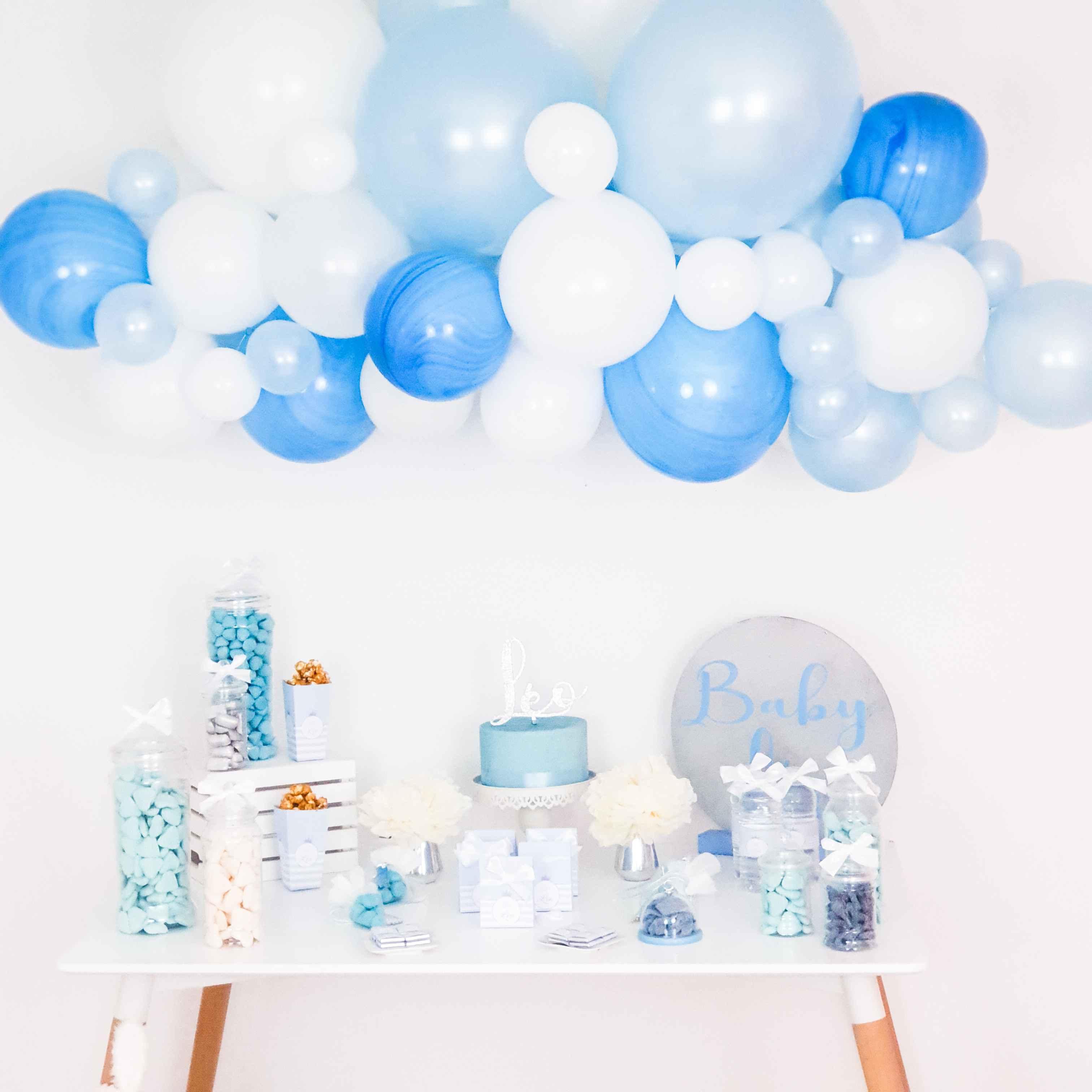 Baptême bleu éléphant invitations 8pk fête décoration garçons